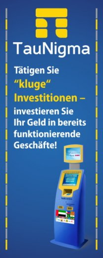 TauNigma - Kluge Investition in etabliertes Geschäft - Investition in Franchise TauNigma Kiosk